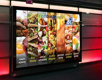 Digital Menu Screen