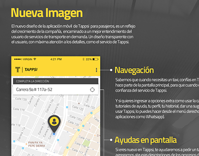 Tappsi passenger app redesign