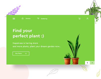 Grocery and Gardening ecommerce Website