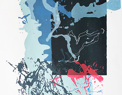 Screenprints: Gestural Assemblage / Layered Activity