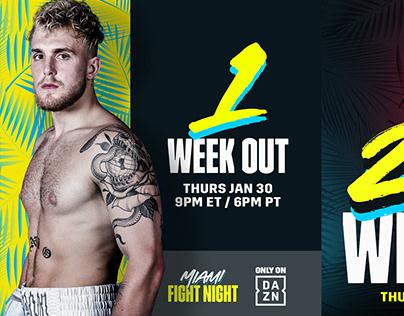 Miami Fight Night Countdown Graphics