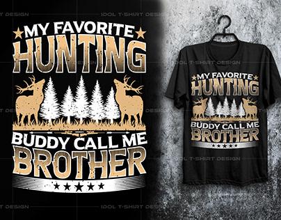 Hunting T-shirt Design T-Shirt DESIGN for hunting lover