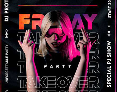 Friday Takeover – Premium PSD Flyer Template