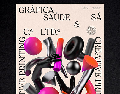 Gráfica Saúde Sá — Neon Pink Digital Printing