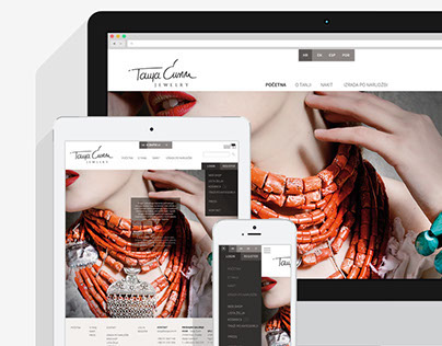 Tanja Curin Jewelry website