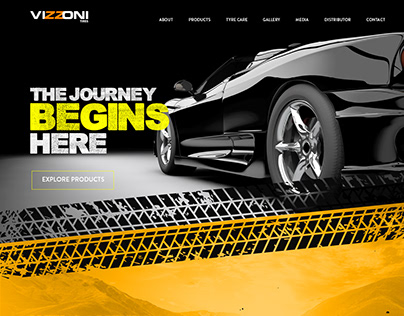Vizzoni Tyres Website UI