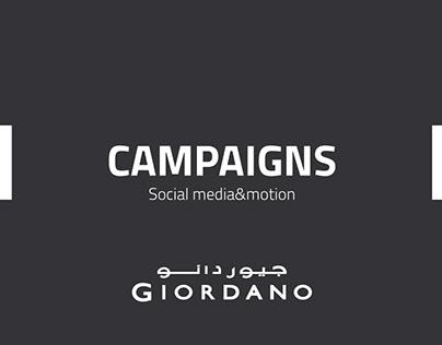 Giordano Social Media & Motion Campaigns
