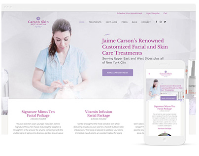 Carson Skin Rejuvenation Branding & Website