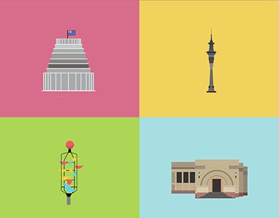 Waka Odyssey New Zealand Icons