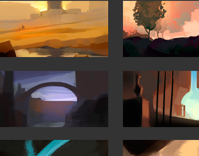 Bedtime color exploration sketches