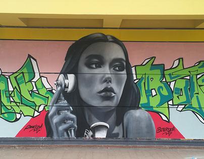 Cindy Mello Portre ve Graffiti