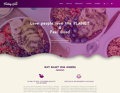 Acai Product selling website