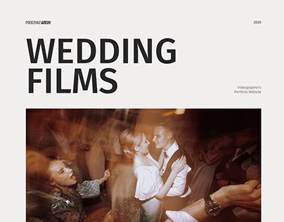 Wedding Videographer's Portfolio Website