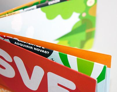 Foldable flyer design for European Voluntary Service