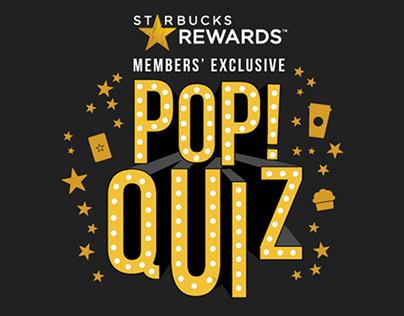 Starbucks Rewards Pop! Quiz