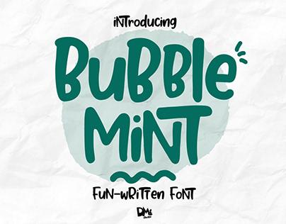Bubble Mint - Handwritten Font