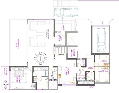 Quarter acre villa - Architecture and Interior layout.