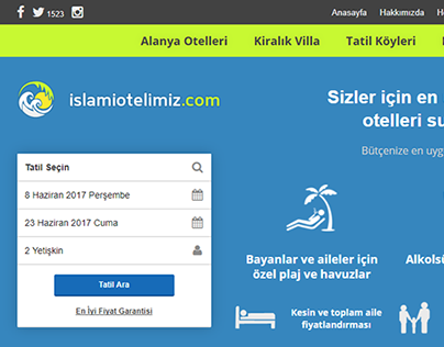 IslamiOtelimiz.com - Booking site that focus to best UX