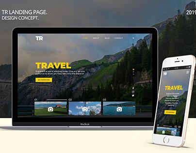 TR - Landing Page Design