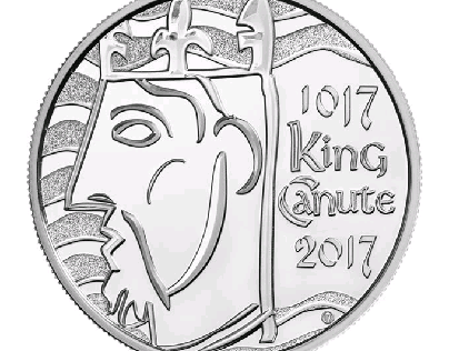 King Canute UK coin
