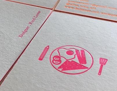 活版印刷名片//Letter Press Name Card Design
