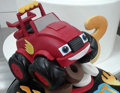 Cartoon theme birthday cakes