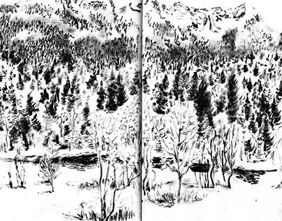 Laghi e montagne - sketchbook