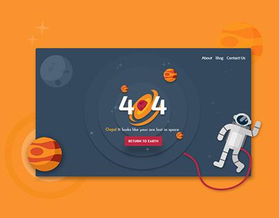 404 Error - Page Not Found
