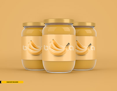Jam Jar Packaging Mockup