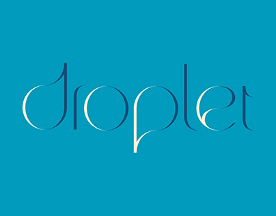 Droplet-display typeface
