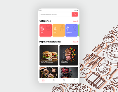 Landing Page | Food Delivery Mobile App