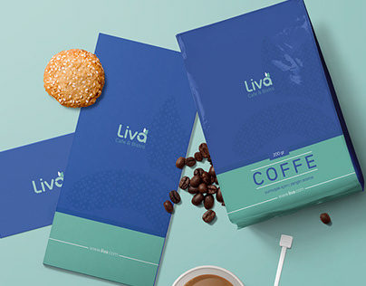 Liva Cafe - Logo Design, Packaging Design