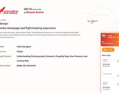 Redesign Air India and UX Improvement