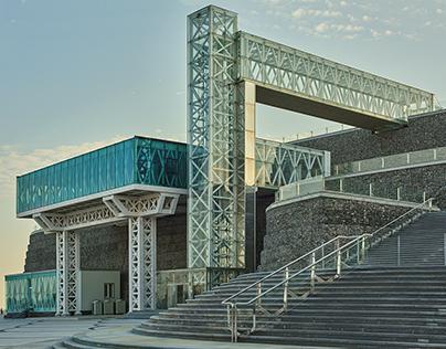 Architecture - Flagpole building Baku