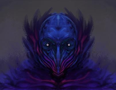 Purple creature