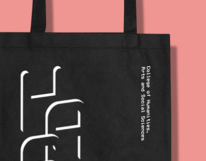 NTU COHASS Tote Bag - Typographic Design