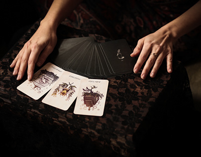 The Botanical Oracle deck for For Strange Women Perfume