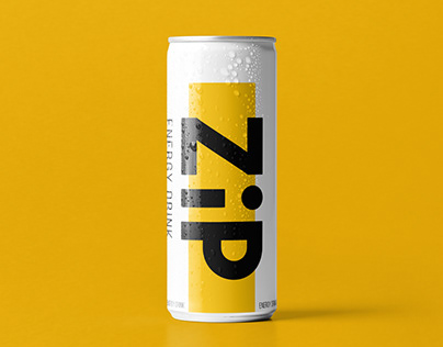 ZIP Energy drink. Design concept