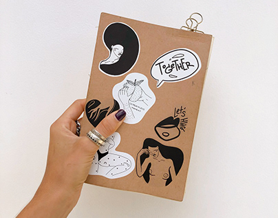 TOGETHER stikers   exhibition customized