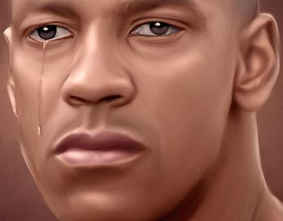 Denzel Washington Digital Art by Wayne Flint