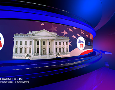 US Election Video Wall for DBC NEWS