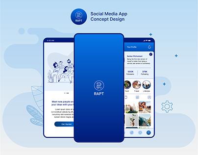 RAPT Social Media App Concept Design