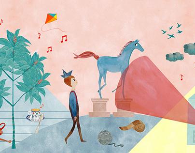 Illustrations for Pera Museum's Children's Day Program