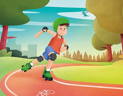 Mavi Kırlangıç Yeşilay Çocuk Dergisi - İllustrasyon