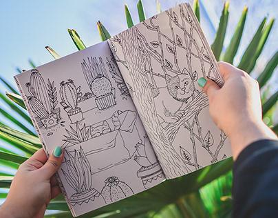 Botanicat - Libro para colorear