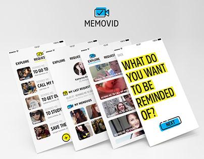 Memovid - Social reminder app concept