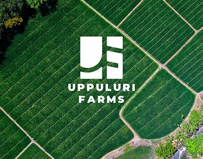 Uppuluri Farms Logo Design