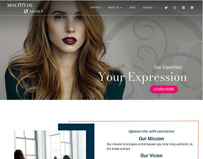 Salon & spa web design