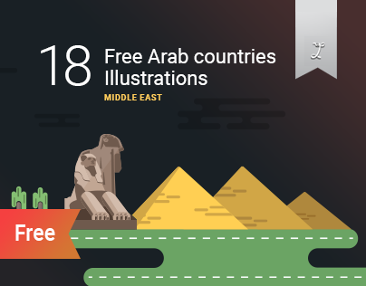 "18 Free Arab countries illustrations ""Middle East"""