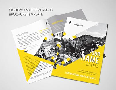 Modern US Letter Bi-Fold Brochure Template